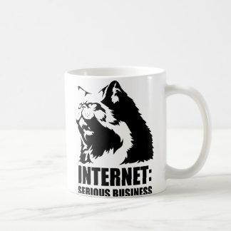 Internet: Serious Business (lolcat funny tshirt) Classic White Coffee Mug