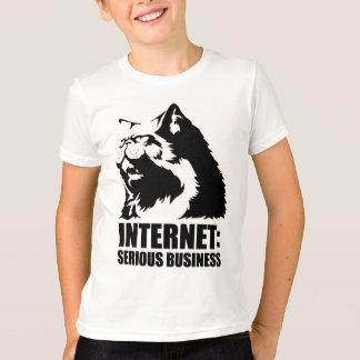 Internet: Serious Business (lolcat funny tshirt) T-Shirt