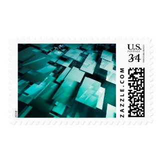 Internet Speed of Broadband Web Download Upload Postage Stamp