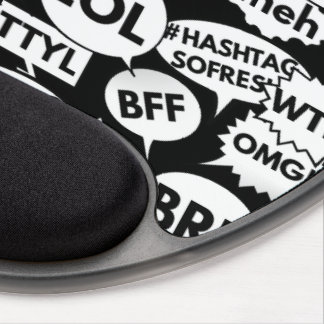 Internet Text Messaging Pattern Gel Mouse Pad