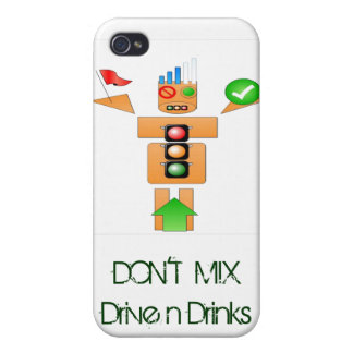 Internet Traffice de la bebida y de la impulsión iPhone 4/4S Carcasa