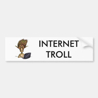 Internet Troll Car Bumper Sticker
