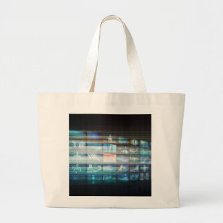 Internet Web Abstract on a Digital Background Large Tote Bag