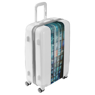 Internet Web Abstract on a Digital Background Luggage
