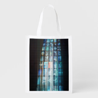 Internet Web Abstract on a Digital Background Reusable Grocery Bag
