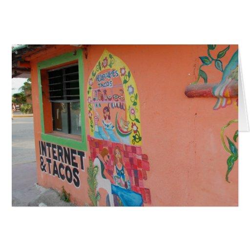 Internet y Tacos Tarjeta Pequeña