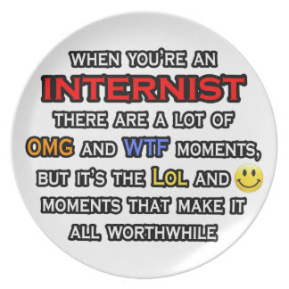 Internist ... OMG WTF LOL Party Plate