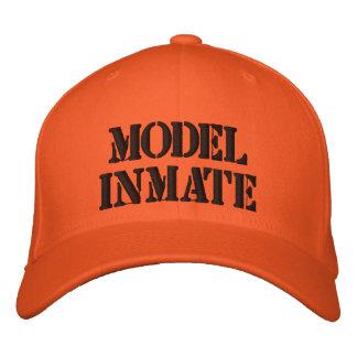 Interno modelo cabido gorra de beisbol bordada