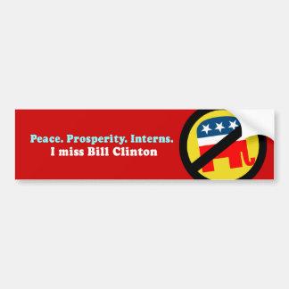 Internos de la prosperidad de la paz pegatina de parachoque