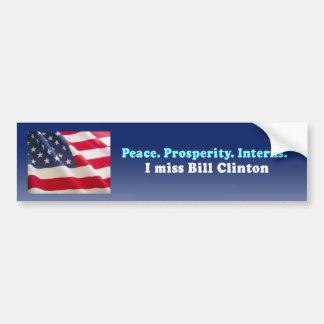 Internos de la prosperidad de la paz etiqueta de parachoque