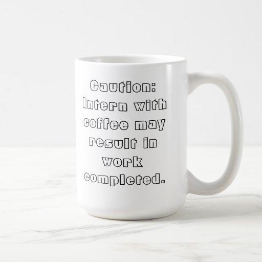 Internos y café taza