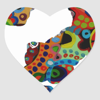 INTEROGATION MULTICOLOR CUTOMIZABLE PRODUCTS HEART STICKERS