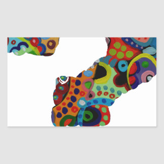 INTEROGATION MULTICOLOR CUTOMIZABLE PRODUCTS RECTANGLE STICKERS