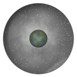 Interplanetary Connection. Galaxy Space Explorer Party Plate