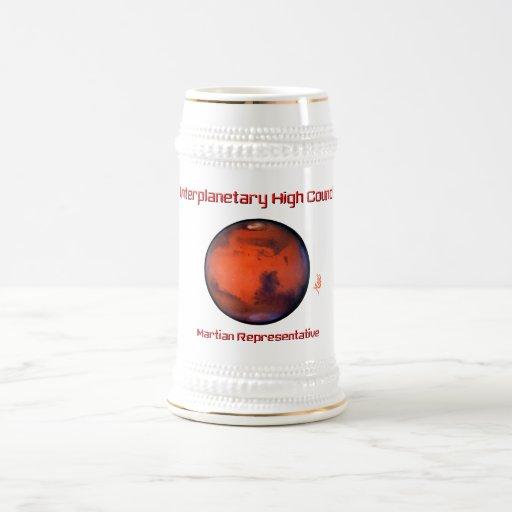 Interplanetary High Council Beer Stein -- Mars 18 Oz Beer Stein