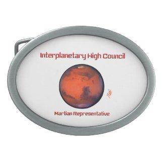 Interplanetary High Council Belt Buckle -- Mars
