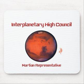 Interplanetary High Council Mousepad -- Mars
