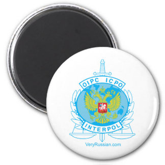 interpol russia badge 2 inch round magnet