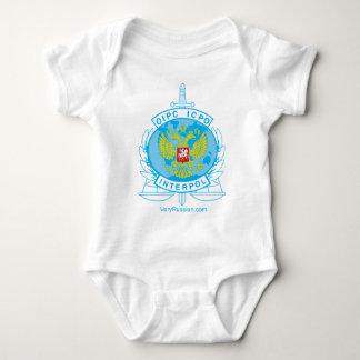 interpol russia badge baby bodysuit