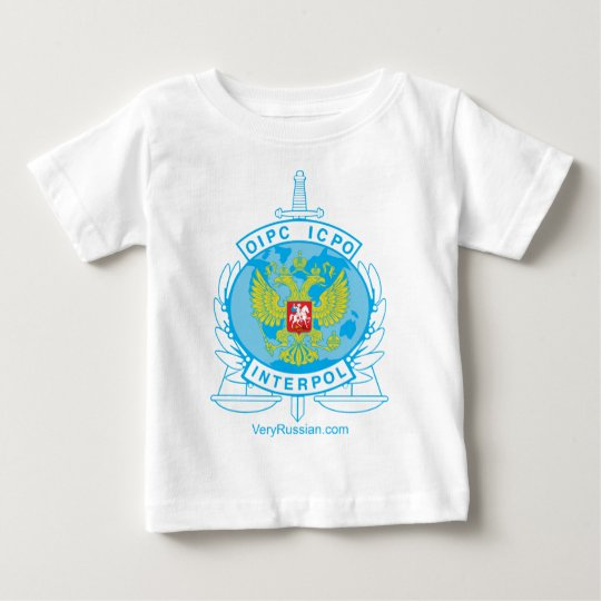 interpol russia badge baby T-Shirt