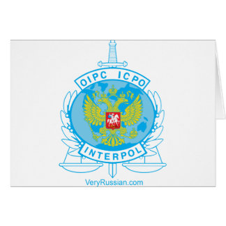 interpol russia badge card