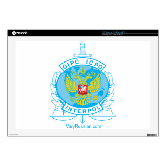 interpol russia badge decal for laptop