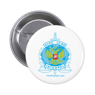 interpol russia badge pinback button