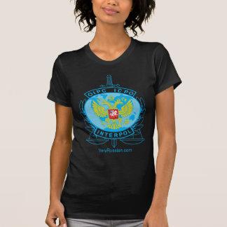 interpol russia badge tee shirt