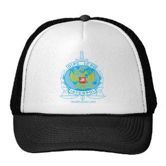 interpol russia badge trucker hat
