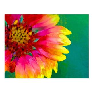 Interpretación artística de la flor combinada tarjetas postales