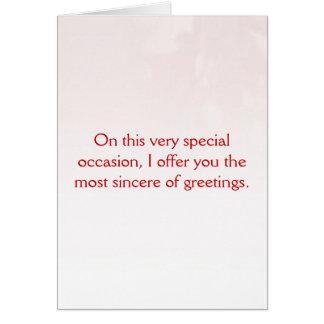 Interpretación baja feliz del día romántico tarjeta de felicitación