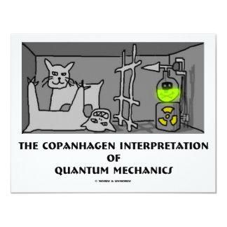"""Interpretación de Copanhagen de los mecánicos de Invitación 4.25"""" X 5.5"""""""