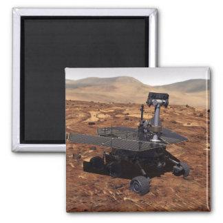 Interpretación de los artistas de Marte Rover 2 Imán Cuadrado