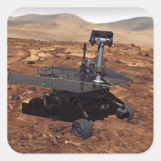Interpretación de los artistas de Marte Rover 2 Calcomanías Cuadradas Personalizadas