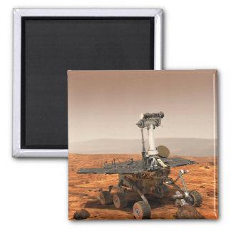Interpretación de los artistas de Marte Rover Imán Cuadrado