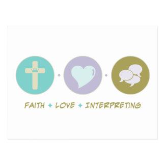 Interpretación del amor de la fe postal