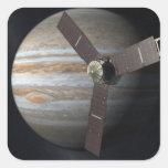 Interpretación del artista de la órbita de JUNO en Pegatina Cuadrada