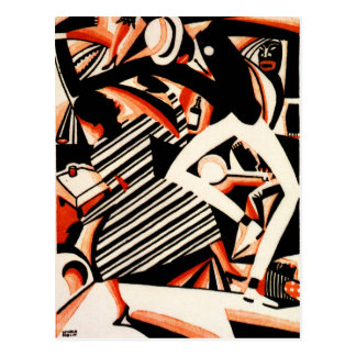Interpretation of Harlem Jazz Postcards
