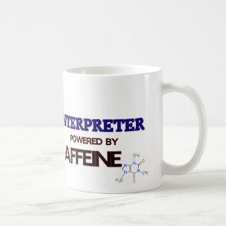 Intérprete accionado por el cafeína taza básica blanca