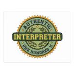 Intérprete auténtico postal