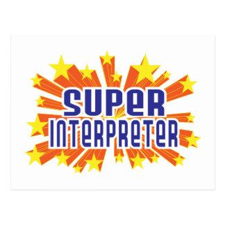 Intérprete estupendo postal