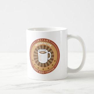 Intérprete inmediato tazas de café