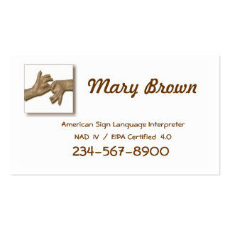 Interpreter Business Card-1 Double-Sided Standard Business Cards (Pack Of 100)