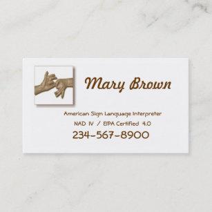 Interpreter business cards zazzle interpreter business card 1 business card colourmoves