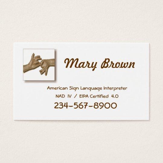Interpreter Business Card-1 Business Card