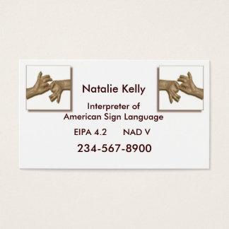 Interpreter Business Card-3 Business Card