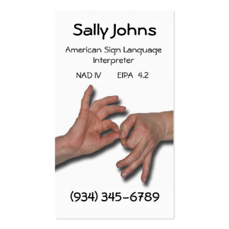Interpreter Business Card-4 Double-Sided Standard Business Cards (Pack Of 100)