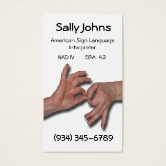 Interpreter Business Card-4 Business Card