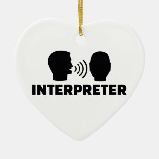 Interpreter Ceramic Ornament