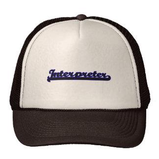 Interpreter Classic Job Design Trucker Hat